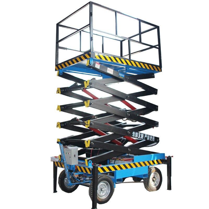 0.3-4m 300kg Aerial Work Mobile Electric Lifting Platform Mobile Elevator Track Lift Freight Elevator
