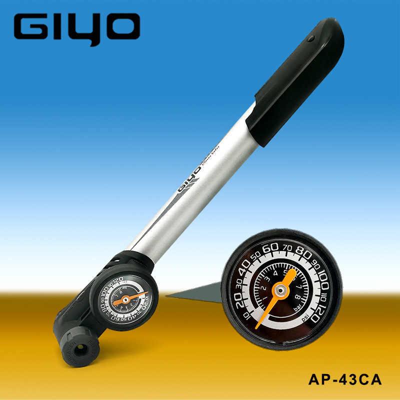 Bike Pump Portable Bicycle Tyre Inflator Hand Pump Schrader PRESTA Valve 120PSI