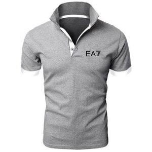 الصيف أزياء EA7 الكمال شعار المطبوعة بولو RF جديد الرجال عالية الجودة الاجتماعية قمصان بولو قميص بولو للنساء و رجل