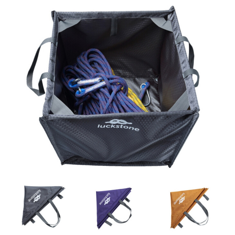 Nylon Folding Cube Rock Climbing Bag Throw Line Rope Foldable Storage Bag For Camping Hiking Climbing Accessories
