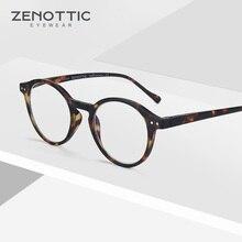 ZENOTTIC Round Reading Glasses Women Vintage Clear Eye Hyperopia Anti Blue Light Men Eyewear New BT4203B