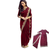 Indian Dress Women Islam Traditional Plus Size Lace Indian Saree Decoration Elegant Dress Hindu For Women Vestido Indiano - 028 1