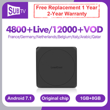 IPTV France Italy IP TV Leadcool W Android Box SUBTV IPTV Spain Italia Portugal Belgium IP TV French Arabic Netherlands IPTV Box недорого