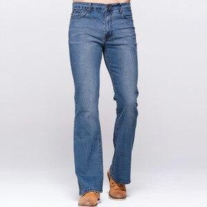 Image 2 - Мужские облегающие джинсы GRG, классические Стрейчевые небесно голубые джинсы с потертостями, повседневные Стрейчевые джинсы