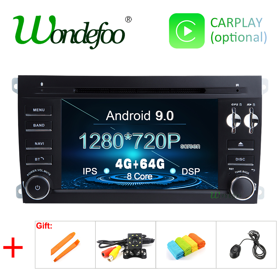 Android 9.0 DSP 64G 2 Din Car GPS Radio for Porsche Cayenne 2003 2010 Cayenne S GTS 2003 2010 Navigation IPS Screen DVD Player-in Car Multimedia Player from Automobiles & Motorcycles    1