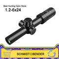 Schmidt Bender Neue 1 2 6x24 30mm Rohr Durchmesser Kurze Zielfernrohr Jagd bereich Illuminated mit Glas Verbesserte absehen Schnelle Fokus|Zielfernrohre|   -