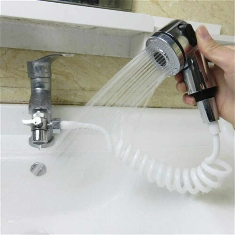 multifunction hand shower quick connect sink hose spray set for hair washing energy saving booster shower head for shampoo bed