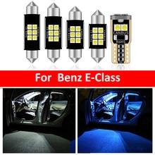 12 Uds coche blanco de luz LED Interior Paquete de bulbos Kit para Mercedes Benz Clase E 2009-2016 W207 C207 mapa cúpula lámpara del tronco Iceblue