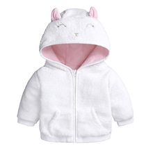 CYSINCOS Children Winter Faux Fur Fleece Jackets For Girls Clothing Parkas Warm Coats Overalls Hooded Baby Kids Outerwear