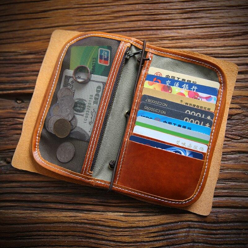 SIKU étui à passeport en cuir pour hommes porte-monnaie à la main porte-monnaie couverture de passeport de marque célèbre