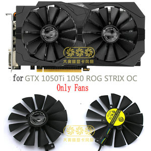 New Original for ASUS GeForce GTX 1050Ti 1050 ROG STRIX OC Graphics card cooling fan PLD10010S12H Dc12V 0.30A