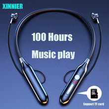 XINNIER TWS 100 Hours Bluetooth Bass In Ear Wireless Headset Magnetic Neckband Sports Running Earphone Earplug Noise Canceling