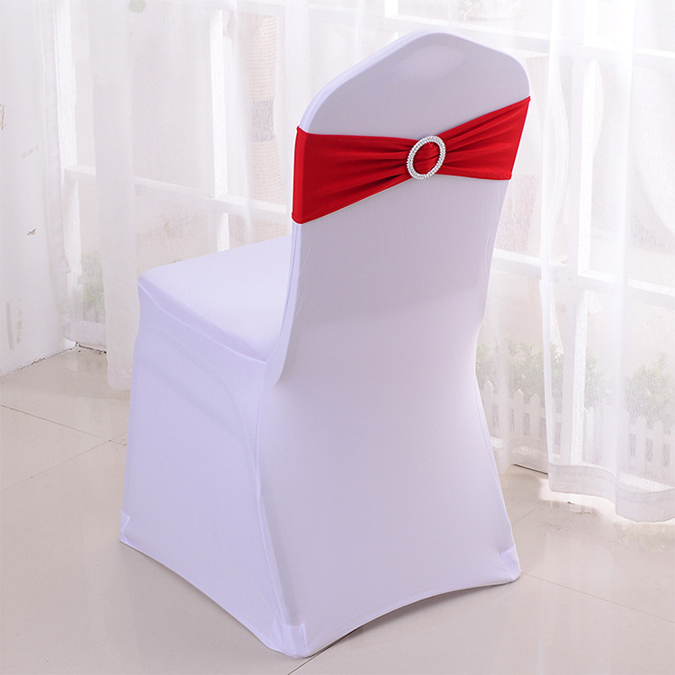 Decorações do Casamento Banda com Fivela Lote Trecho Cadeira Coberta Deslizante Vinho Vermelho Ouro Prata Cinza Roxo Sashes Arco Cinto 100 pc –