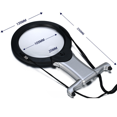 Hands Free LED loupe Lighted Reading Magnifier Table Hanging Magnifying Glass For Seniors Sewing Cross Stitch Embroidery Repair Multan