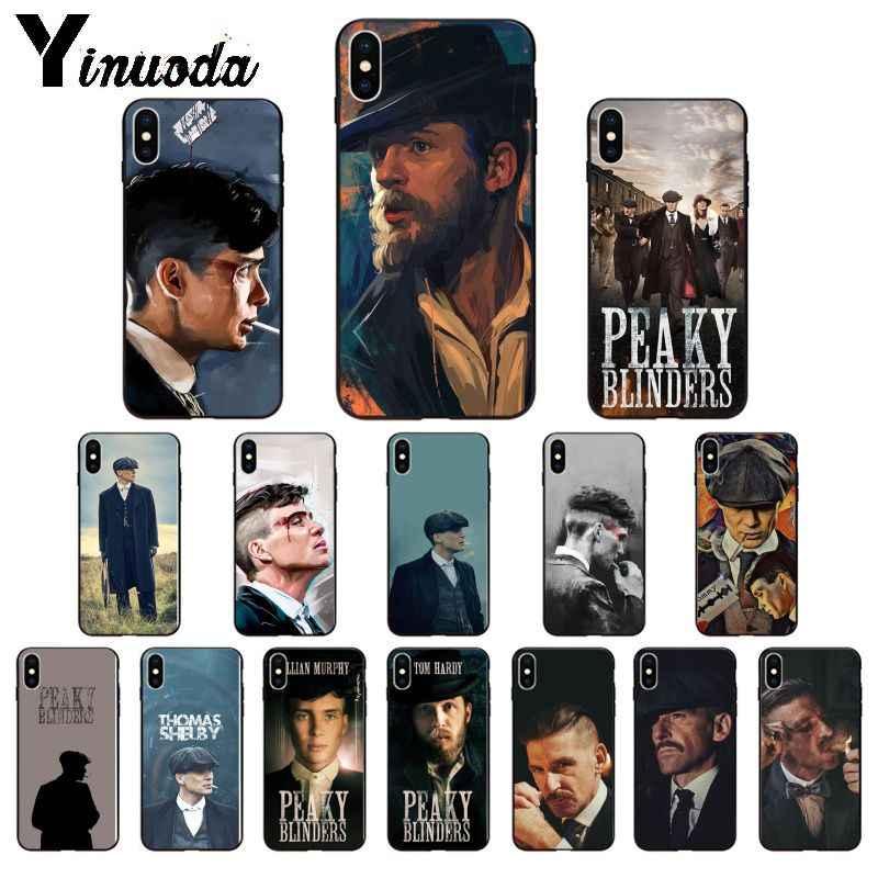 Yinuoda Peaky Blinders Thomas Shelby TPU Caso de Telefone Macio para Apple iPhone 8 7 6 6S Plus X XS MAX 5 5S SE XR 11 11pro máxima Cobertura
