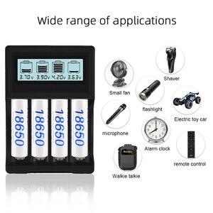 Image 3 - PALO écran LCD USB 14500 18650 chargeur de batterie 3.7V Li ion chargeur de batterie Rechargeable pour 16350 18500 18650 14500
