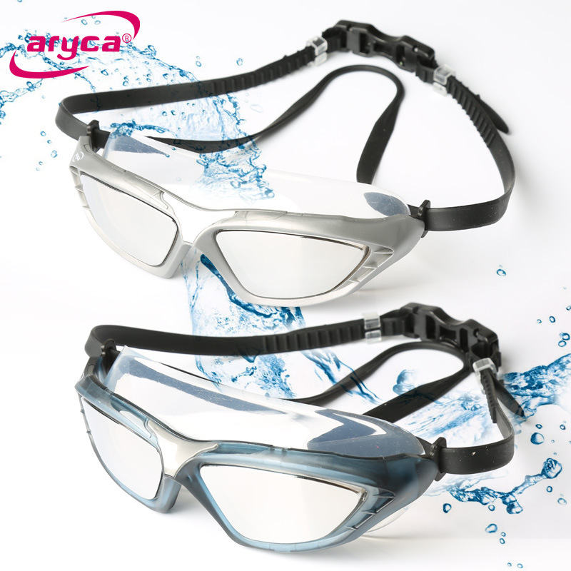 Taiwan Aryca Genuine Product Large Frame Comfortable Not Le Eye Electroplated Waterproof Anti-fog High-Definition Swimming Glass
