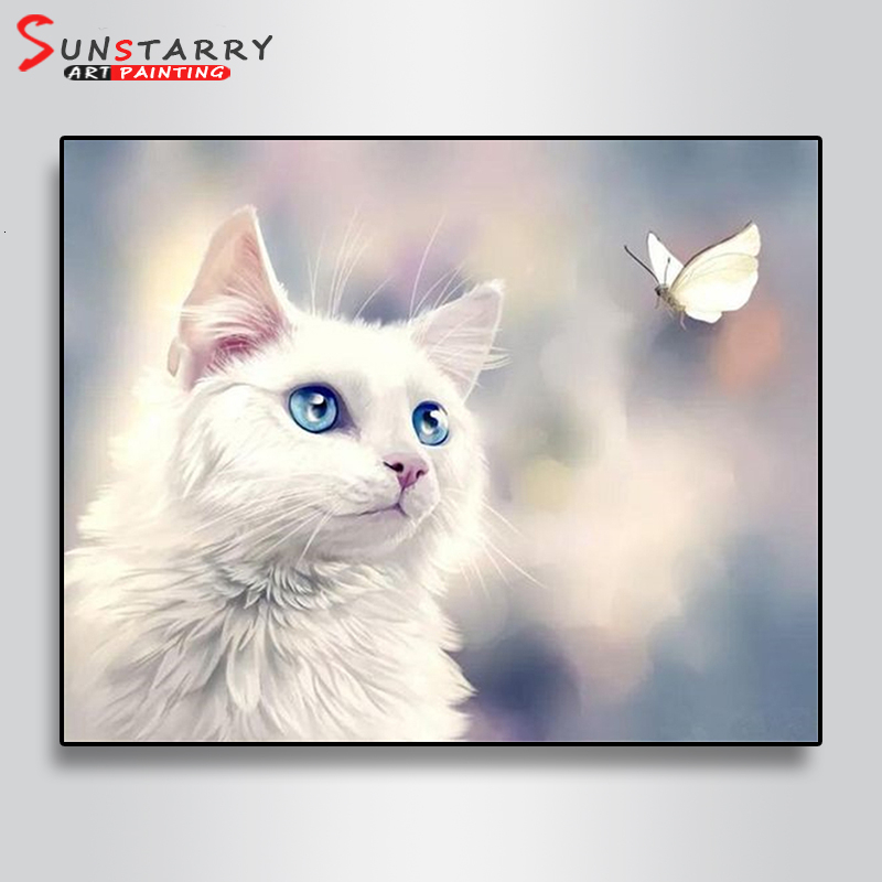 Cat Full Drill DIY 5D Diamond Painting Embroidery Art Picture Cross Stitch Kits