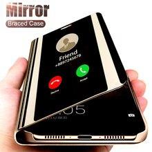 Умный зеркальный чехол для телефона для samsung Galaxy S10 S8 S9 плюс A50 A40 A30 A20 A70 A20s A30s A50s M20 M30 M30s M40 S6 S7 края крышки