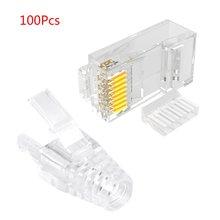 100 шт/компл cat6 соединитель rj45 utp кабель ethernet jack