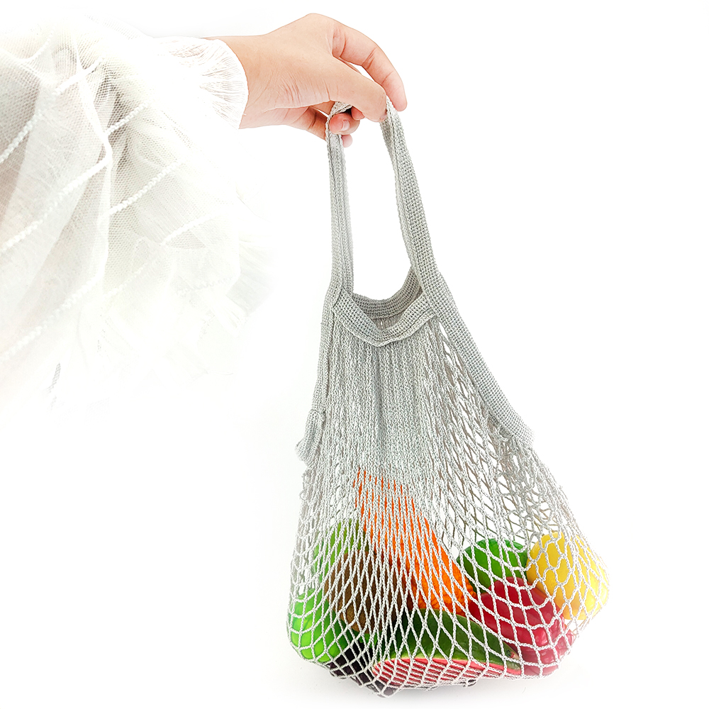 High-strength Cotton Mesh Net String Shopping Bag multi-function net bag Reusable Foldable Fruit Storage Handbag Women Shopping