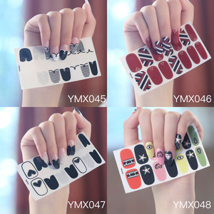 Image 1 - Koreanischen Stil Nail Sticker Nail Wraps Mixed Styles Volle Abdeckung Nagel Vinyls Decals Dekorationen DIY