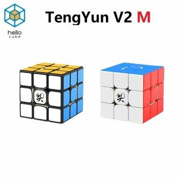 HelloCube Dayan Tengyun  V2 M 3x3x3 Magnetic Magic Cube Tengyun V2M Professional Magic Cube Dayan Magnetic Version Speed Puzzle