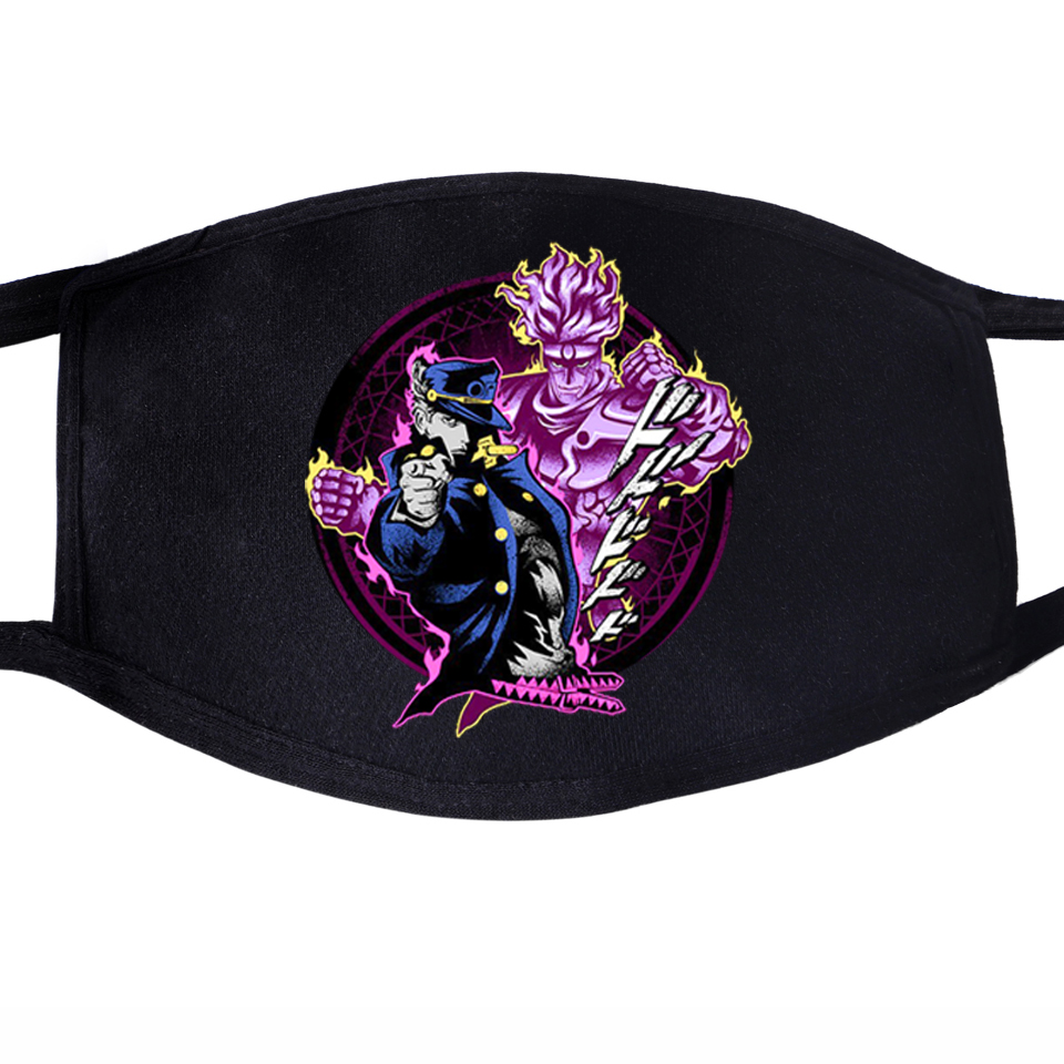 CRAZY DIAMOND JoJo's Bizarre Adventure JoJo JOJOS Anime Dustproof Mouth Face Masks Unisex Black Anti-Dust  Cover Mask