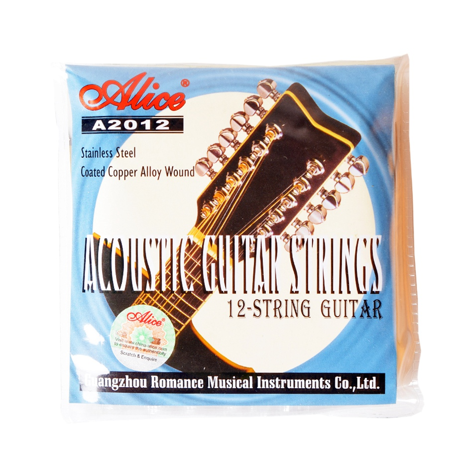 Alice A2012 12 Strings Acoustic Guitar Strings 010-026 Musical Instrument Guitar Parts Accessories 12 Guitar Strings 1 Set