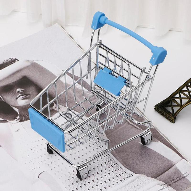 High Quality Mini Supermarket Trolley Shopping Handcart Toys Children Gift Toys Office Decoration Supermarket Cart Trolley