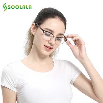 Semi-rimless Cat Eye Reading Glasses 3