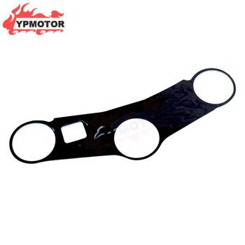 CBR600 03-05 motocykl 3D z włókna węglowego potrójne drzewo górny zacisk górny przedni koniec naklejki samochodowe dla Honda CBR600RR F5 2003-2004 2005 tanie i dobre opinie YXMTPTCO CN (pochodzenie) Carbon Fiber Decal 0 1kg 1inch Steering Cover Sticker Black As Picture Show For HONDA CBR600RR F5 2003-2004