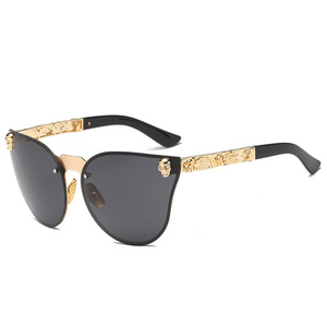 2020 Fashion Women Gothic Sunglasses Skull Frame Metal Temple High Quality Sun glasses Oculos De Sol Feminino Luxury(China)