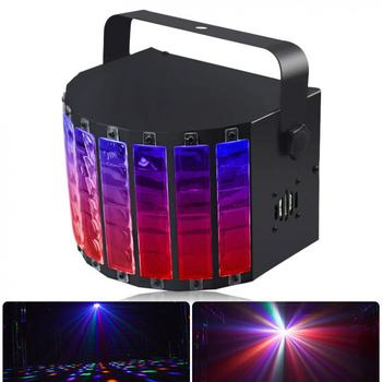 15W 9 Colors LED Flash Stage Light Crystal Magic Ball Support Auto Voice Remote DMX512 Control for KTV Disco Bar Home Audio