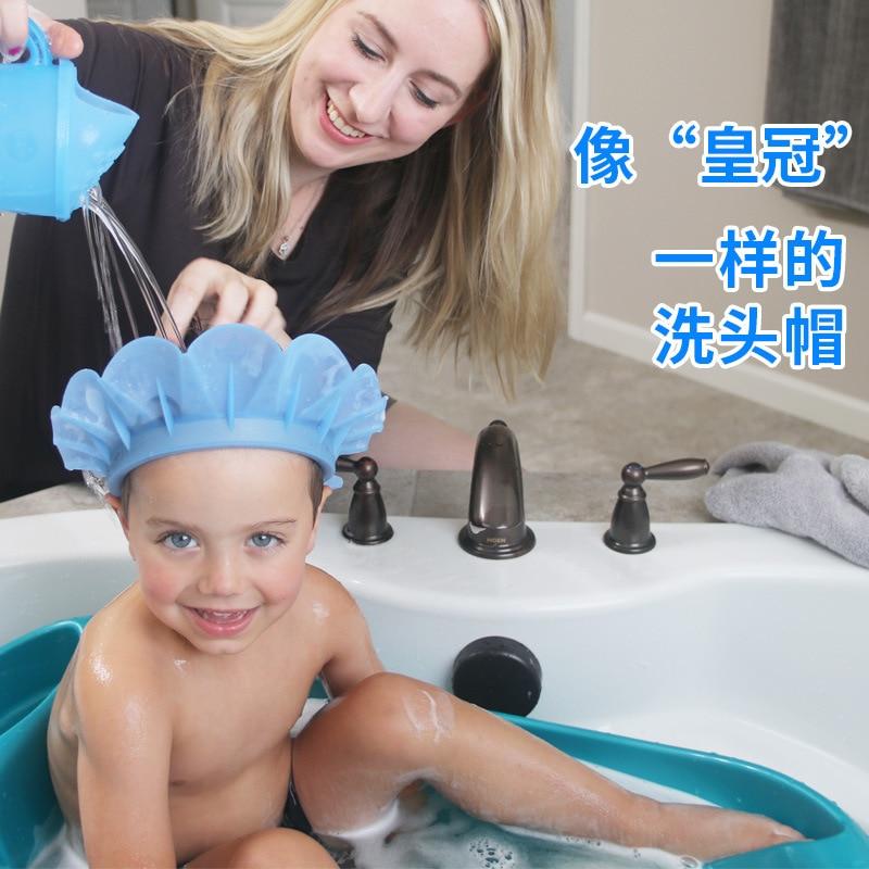 America Kair Third Generation Infant Child Baby Shower Cap Shampoo Shower Cap Useful Product Waterproof Earmuff Silica Gel Xi To