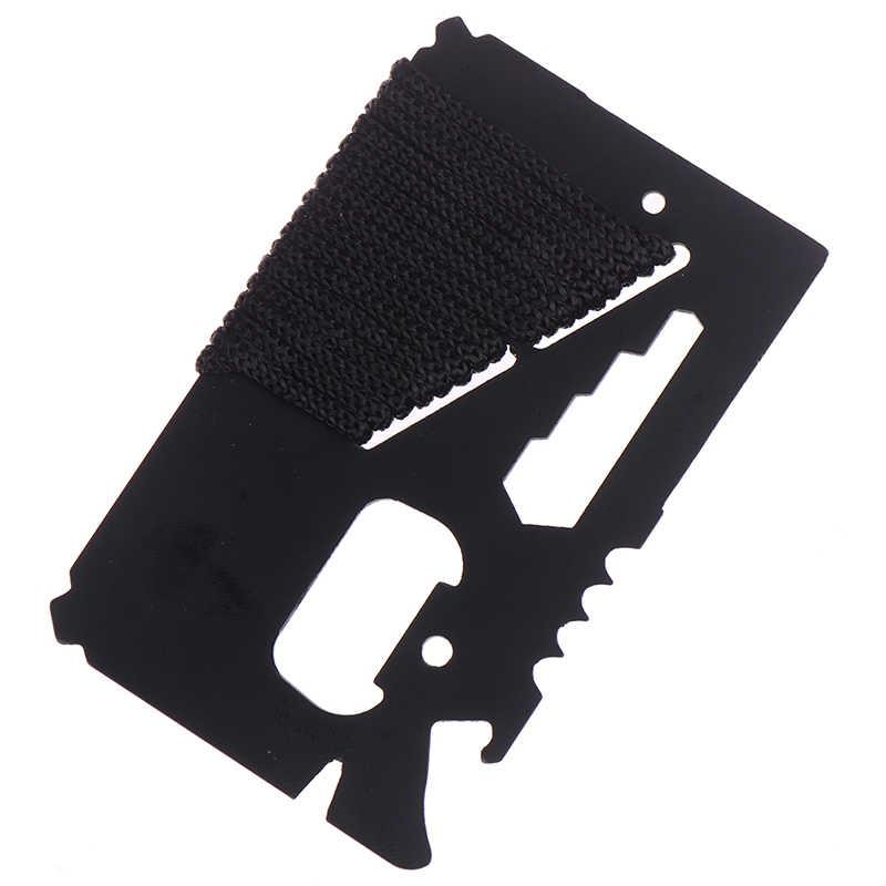 1PC 11 w 1 Camping kieszeń survivalowa narzędzie wielofunkcyjne wojskowe wielofunkcyjne szwajcarski portfel armii Kinfe narzędzia nóż karty kredytowej