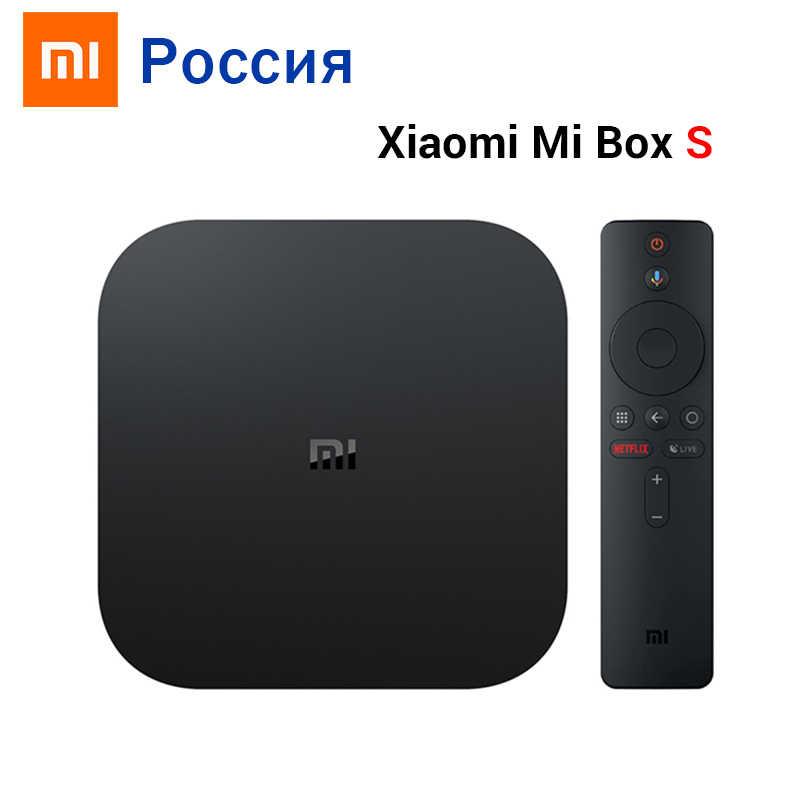 Global Original Xiaomi Mi caja de S 4K HDR Android TV 8,1 Ultra HD 2G 8G WIFI Google Cast Netflix IPTV Set Top Mi caja de 4 reproductor de medios
