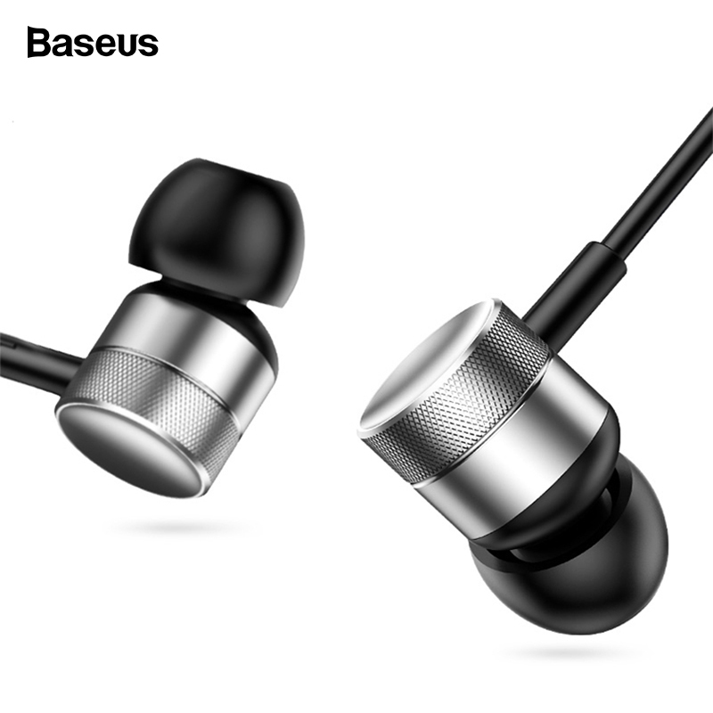 Baseus H04 Wired Earphone For Phone IPhone Xiaomi Samsung Huawei Headset In-Ear Earphone With Mic In Ear Buds Earbuds Earpiece