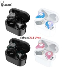 Yeni Sabbat X12 Ultra TWS kablosuz Bluetooth 5.0 kulaklık Mini su geçirmez spor Stereo kulak kablosuz kulaklık kulakiçi