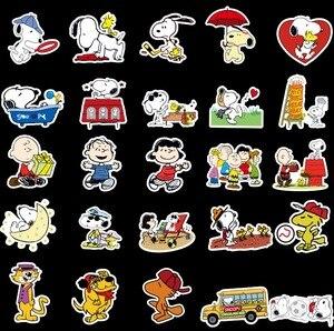 Image 3 - 100 adet karikatür Snoopy çıkartmalar dizüstü kaykay bagaj çıkartması ofis oyuncak aletleri netbook su geçirmez çıkartmalar