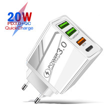 PD 20W USB Type C Charger For iPhone 12 11 Pro X Xs Xr 7 AirPods iPad Huawei Xiaomi LG Samsung EU Plug Adapter Fast Phone Charge