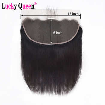 Brazilian Straight Pre Plucked Ear to Ear 13x6 Lace Frontal Closure With Baby Hair Free Part 10-20inch Remy 100% Human Hair - DISCOUNT ITEM  51% OFF All Category