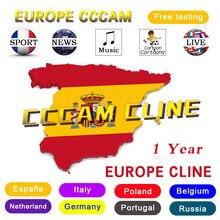 Teste 48h europa ccam 7 linhas satélite DVB-S2 para gtmedia v8 nova v7s v9 freesat oscam servidor