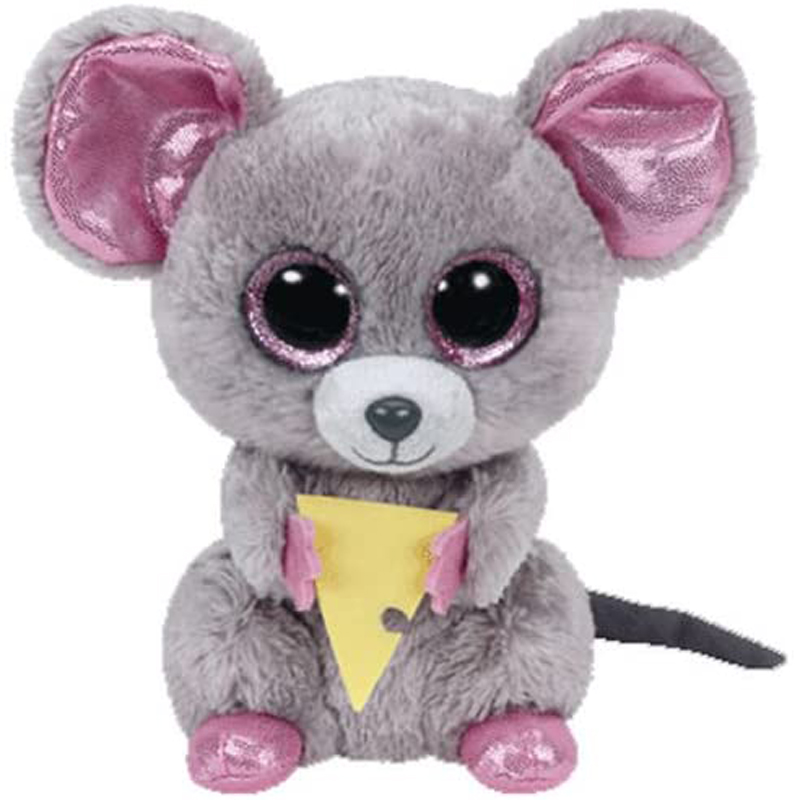 Ty Squeaker The Mouse With Cheese Plush Animal Toys Stuffed Doll Gift 15cm