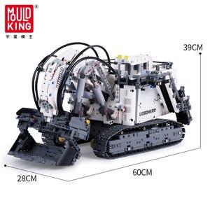 Image 5 - Technic seria liebherrs koparka R 9800 Model klocki klocki moc silnika MOC 1874 kompatybilny lepining 42100 dzieci zabawki