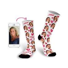 Impresión personalizada de su foto de cara de mascota calcetines largo personalizado calcetines Coloridos calcetines Calcetines para hombres y mujeres divertido nuevos calcetines regalos