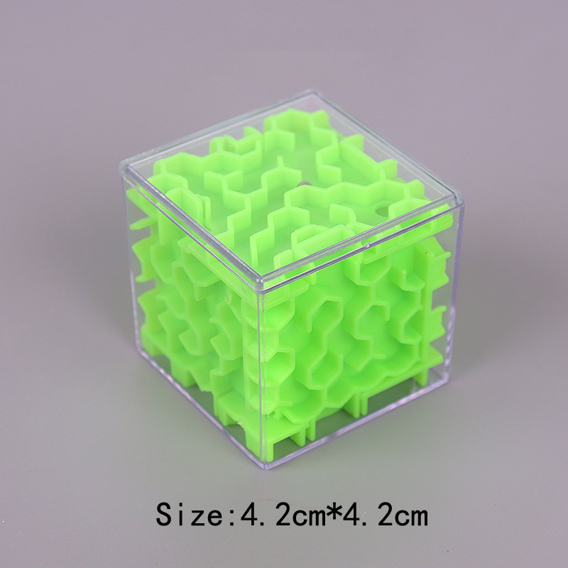 TOBEFU 3D Maze Magic Cube Transparent Six-sided Puzzle Speed Cube Rolling Ball Game Cubos Maze Toys for Children Educational 14