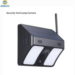 wide-angle solar battery ip66 outdoor WiFi IP camera wall light surveillance camera for garden patio yard courtyard path