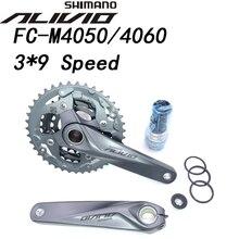 Shimano Alivio M4050 T4060 27S Xe Đạp Crankset 22 30 40T 22 32 44T 170Mm 3*9 Tốc Độ 40T 44T rỗng Xe Đạp Crankset Chainwheel BB52