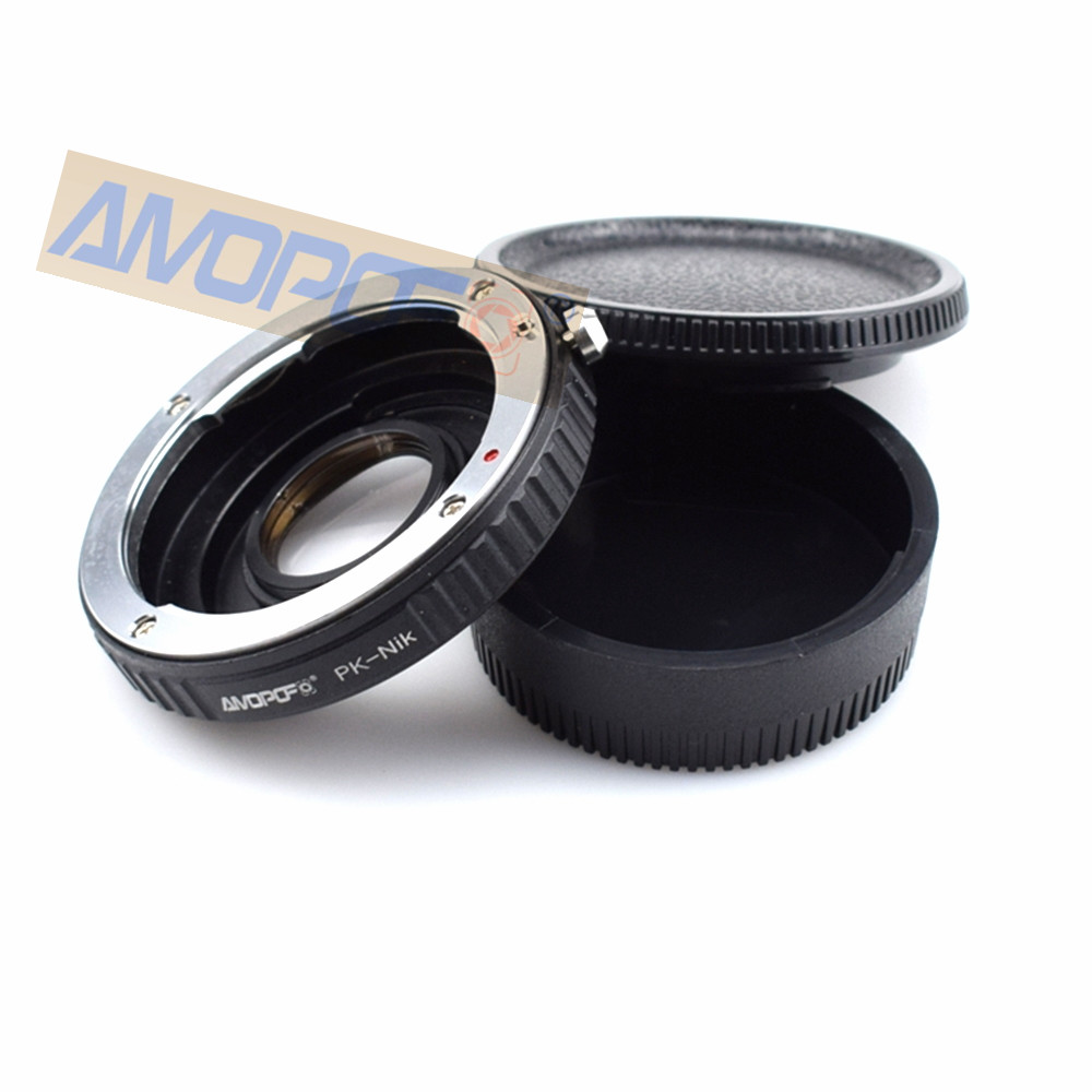 PK to Nikon band Optical glass Adapter,Pentax PK K Lens to Nikon F D750 D810 D3200 . Band Optical glass
